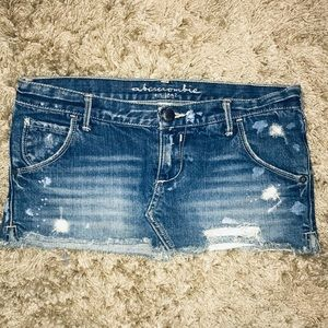 Abercrombie Kids Jean Mini Skirt Size 14 Girls